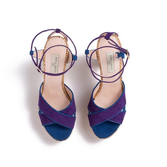 E R A T O  raffia plateau sandals new arrival elegant • tall • exotic comfortable plateau handmade in athens   #raniakroupiluxuryshoes  #raniakroupishoes  #erato #nymph of love poetry and love #blueandpurple #sandals #ψάθα #wearthis ext #fashionlovers #supportgreekfesigners
