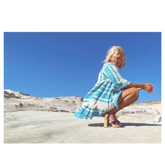 "E R A T O  raffia sandals  Beautiful ""Sunshine"" choreographer @darlinpicante  at @milosisland   Photo credits & special thanks @barritoandthebeans"